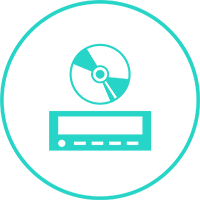 green machines icon radio cd 500H2 BLUE