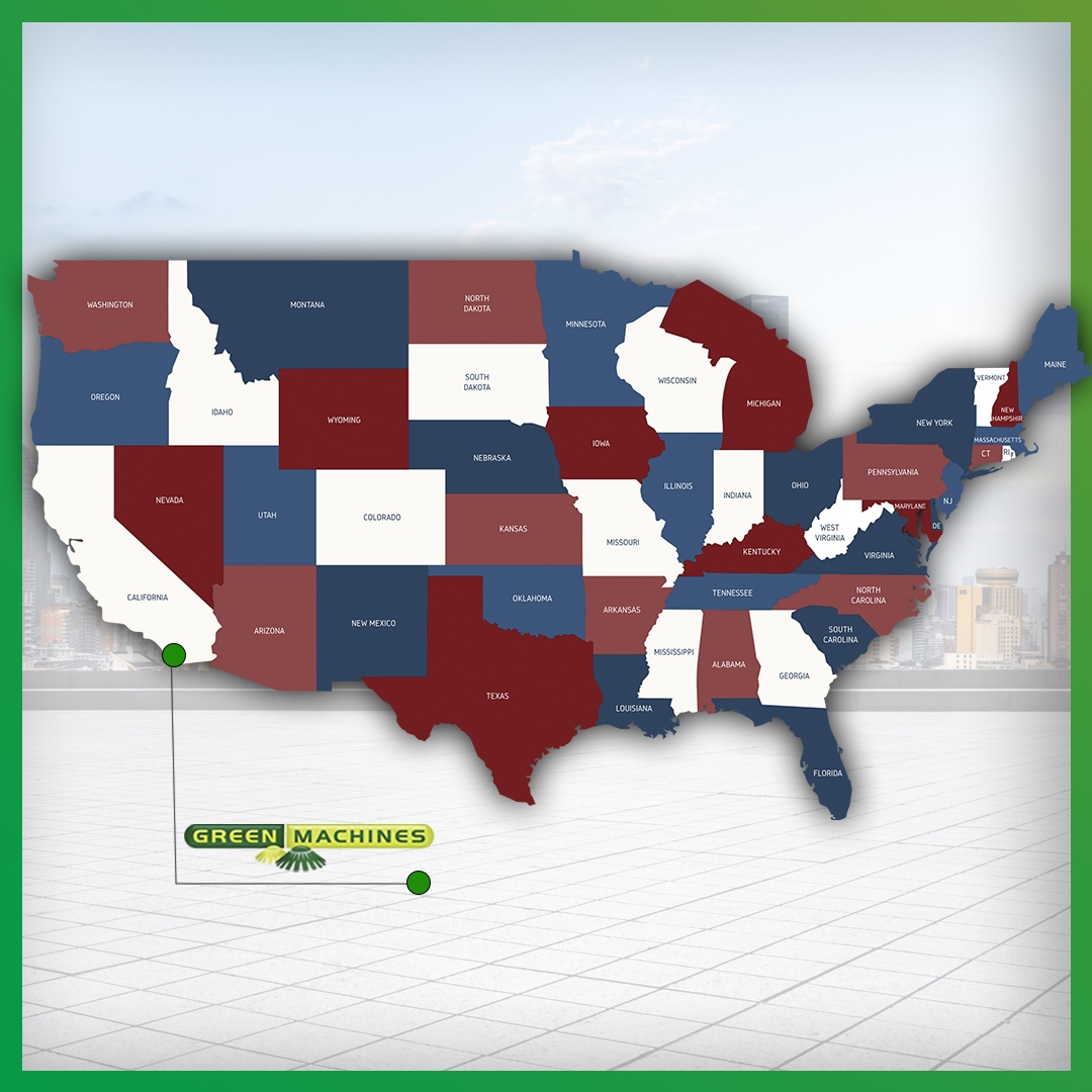 GREEN MACHINES HAS A U.S. OFFICE!
